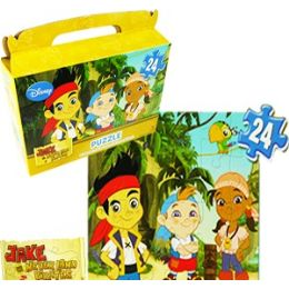 24 Units of DISNEY'S JAKE AND THE PIRATES GIFT BOX PUZZLES - Puzzles