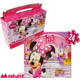24 Units of DISNEY'S MINNIE BOWTIQUE GIFT BOX PUZZLES. - Puzzles