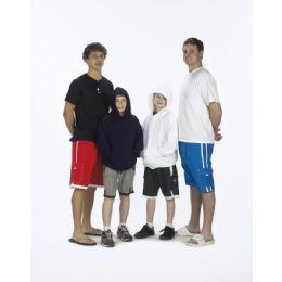 48 Units of Boys Microfiber Swim Shorts: One Stripe - Boys Swim Wear