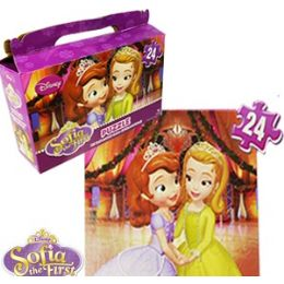 24 Units of Disney's Sofia The 1st Gift Box Puzzles - Puzzles