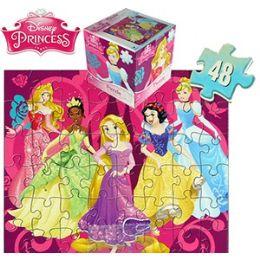 24 Units of Disney's Princess Cube Jigsaw Puzzles. - Puzzles