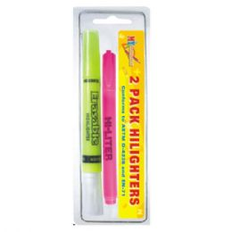 96 Units of Highlighter 2pc - Markers and Highlighters