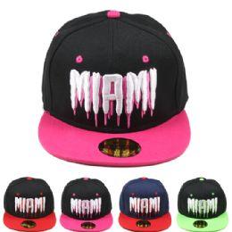 24 Units of Miami Snapback - Baseball Caps & Snap Backs