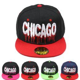 24 Units of Chicago Snapback Baseball Cap - Baseball Caps & Snap Backs