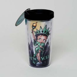 30 Units of Tumbler Insulated Acrylic 16oz W/lid Betty Boop Liberty - Coffee Mugs