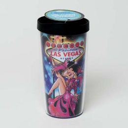30 Units of Tumbler Insulated Acrylic 16oz W/lid Betty Boop Showgirl - Coffee Mugs