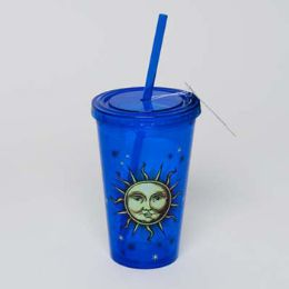 20 Units of Tumbler Insulated Acrylic 16oz W/straw Celestial Cup - Plastic Drinkware