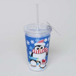 20 Units of Tumbler Insulated Acrylic 16oz W/straw Penguin - Plastic Drinkware