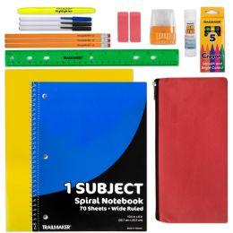 24 Units of 20 PIECE SCHOOL SUPPLY KIT - School Supply Kits