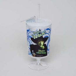 20 Units of Goblet 20oz You Say Witch Freezer W/straw - Plastic Drinkware