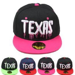 24 Units of Adult Baseball Cap Texas Snapback - Baseball Caps & Snap Backs