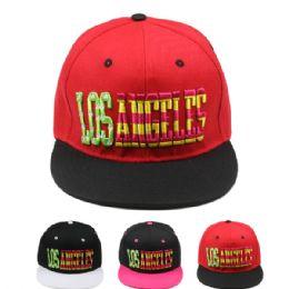 24 Units of Los Angeles Snapback Baseball Cap - Baseball Caps & Snap Backs
