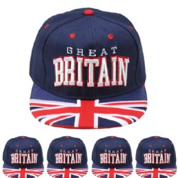 24 Units of Great Britain Snapback Baseball Cap - Baseball Caps & Snap Backs