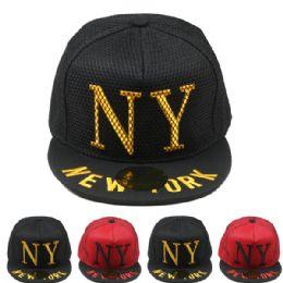 24 Units of New York Snapback Baseball Cap - Baseball Caps & Snap Backs