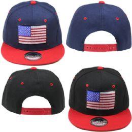 24 Units of Usa Snapback Baseball Cap - Baseball Caps & Snap Backs