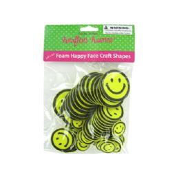 72 Units of Peel & Stick Foam Happy Face Craft Shapes - Foam & Felt