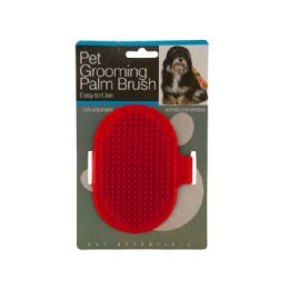 72 Units of Pet Grooming Palm Brush - Pet Accessories