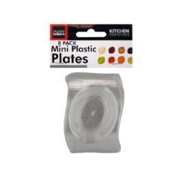 72 Units of Clear Mini Plastic Plates Set - Plastic Bowls and Plates