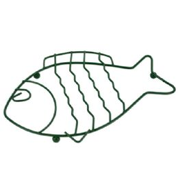 144 Units of Green Wire Fish Trivet - Kitchen Linens