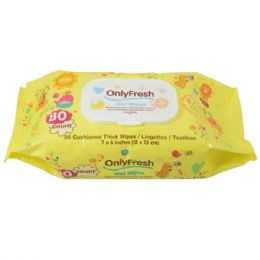 48 Units of Baby Wipes Only Fresh Yellow - Baby Accessories