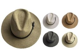 72 Units of Adult Panama Hat Assorted Colors - Cowboy & Boonie Hat