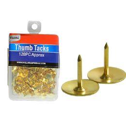 288 Units of 120 Piece Thumb Tacks - Push Pins and Tacks