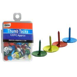 288 Units of 120 Piece Thumb Tacks. - Push Pins and Tacks