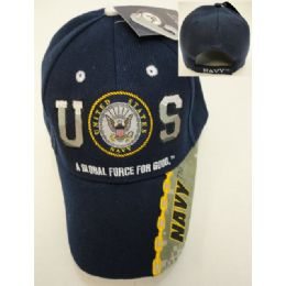24 Units of Licensed US Navy Hat [Navy/Logo] - Military Caps