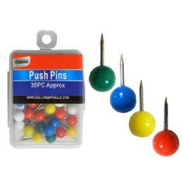 288 Units of Round Push Pins - Push Pins and Tacks