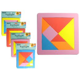 "288 Units of Va Puzzle. 8"" X 8"" X 8mm Thick 4 Assorted Colors - Puzzles"