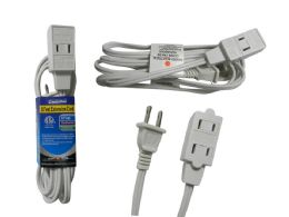 144 Units of Etl Ul Ext Cord 6ft Blue Card - Chargers & Adapters