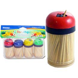 96 Units of Toothpick Holder 4 Piece - Toothpicks
