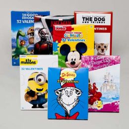 50 Units of Valentine Cards 32ct Licensed 9 Asst See N2 *2.99* # 4129999-c17 - Valentine Gift Bag's