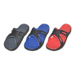 36 Units of Mens Slide In Slipper Assorted Colors - Men's Slippers