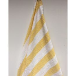 24 Units of Economy Stripe Yellow 30x60 Cabana Beach Towel - Beach Towels