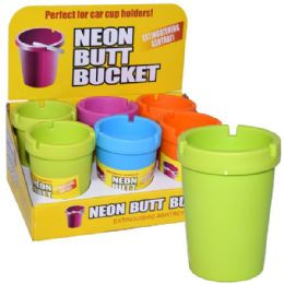 48 Units of Butt Bucket Counter Display Neon Top - Ashtrays