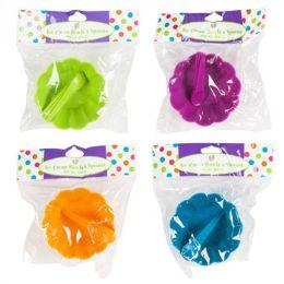 48 Units of 6pc Ice Cream Bowls W/mini Spoons -3pc Set Each - Plastic Bowls and Plates