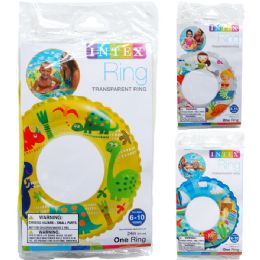 36 Units of TRANSPARENT RINGS IN PEGGABLE POLY BAG - Summer Toys