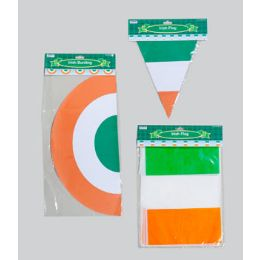 96 Units of Irish Flag Banner/bunting 3ast Triang/rect Flag & Bunting 12ft Gov Logo Pbh - St. Patricks