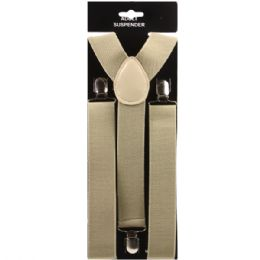48 Units of Adult Tan Suspender (1.5 Inches Wide) - Suspenders