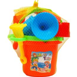 12 Units of 6 BEACH bucket with tools asst. colors