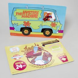 96 Units of Scooby-doo! Placemats 17x11 2 Assorted -all Designs Printed Horizontal - Placemats