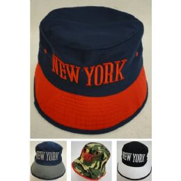 12 Units of Bucket Hat [NEW YORK] - Bucket Hats