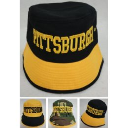 12 Units of Bucket Hat [PITTSBURGH] - Bucket Hats