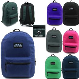 """24 Units of ARCTIC STAR 17 INCH BACKPACK ASSORTED COLORS - Backpacks 17"""""""