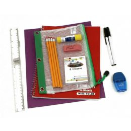 48 Units of 10 Piece Universal School Supply Kit For Students From Grades K-12 - School Supply Kits
