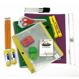 40 Units of 16 Piece Universal School Supply Kit For Students From Grades K-12 - School Supply Kits