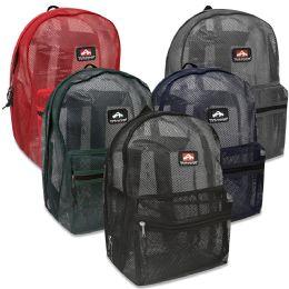 "24 Units of Trailmaker 17 Inch Mesh Backpack - 5 Colors - Backpacks 17"""