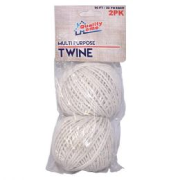 48 Units of 2 Pack Mutli-Purpose Twine - Rope and Twine