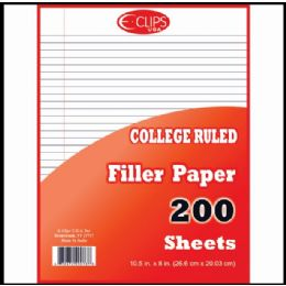 Can you write on colored filler paper in college?